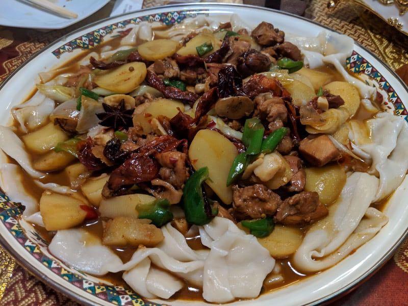 XinJiang food da pan ji