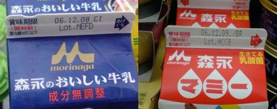 Milk carton markings