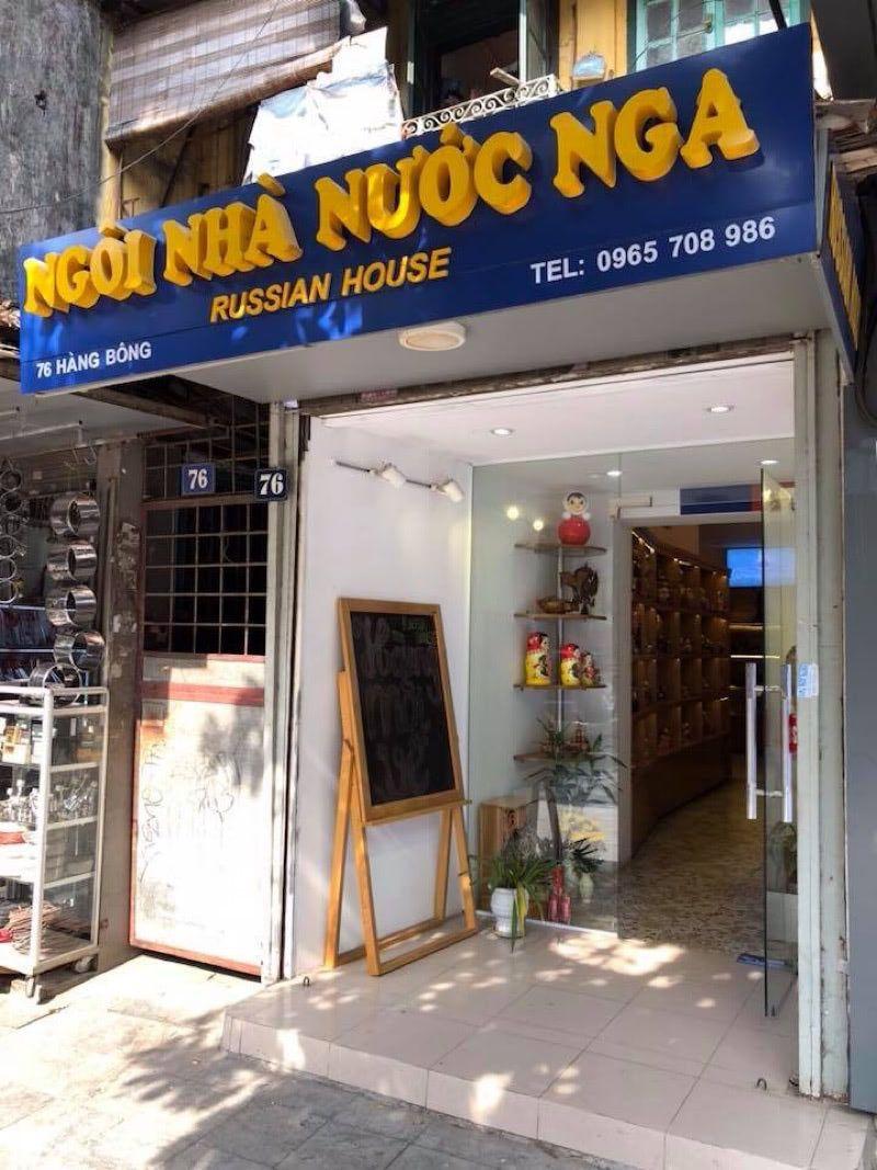 Russian shop in Hanoi