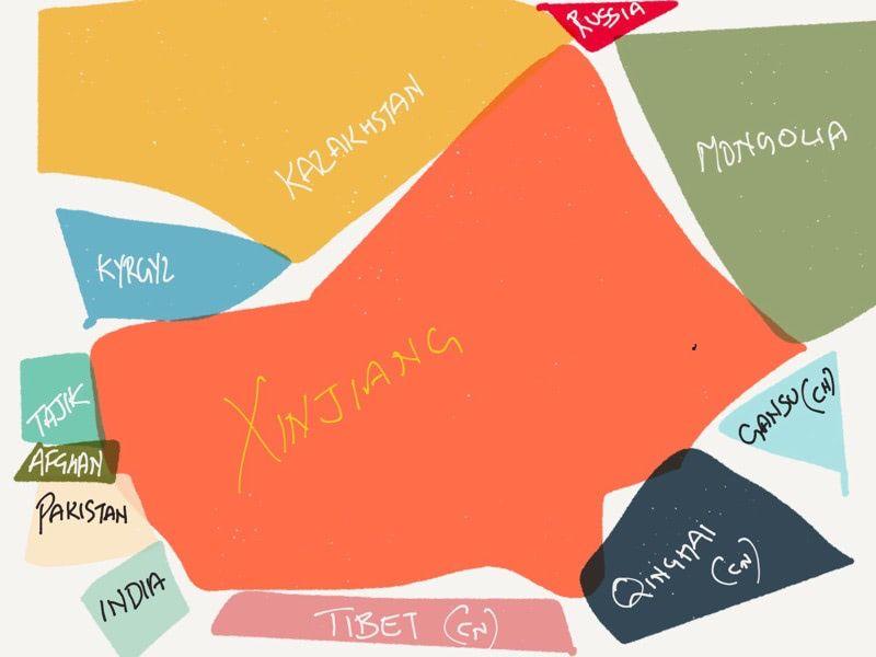 Map of XinJiang