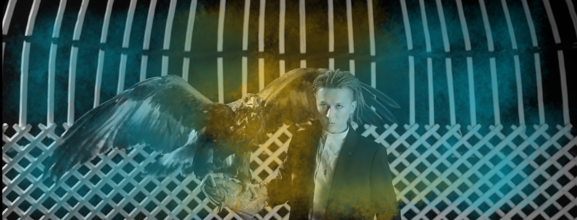 "Image of ZaQ with an eagle from the ""Men Emes"" MV"