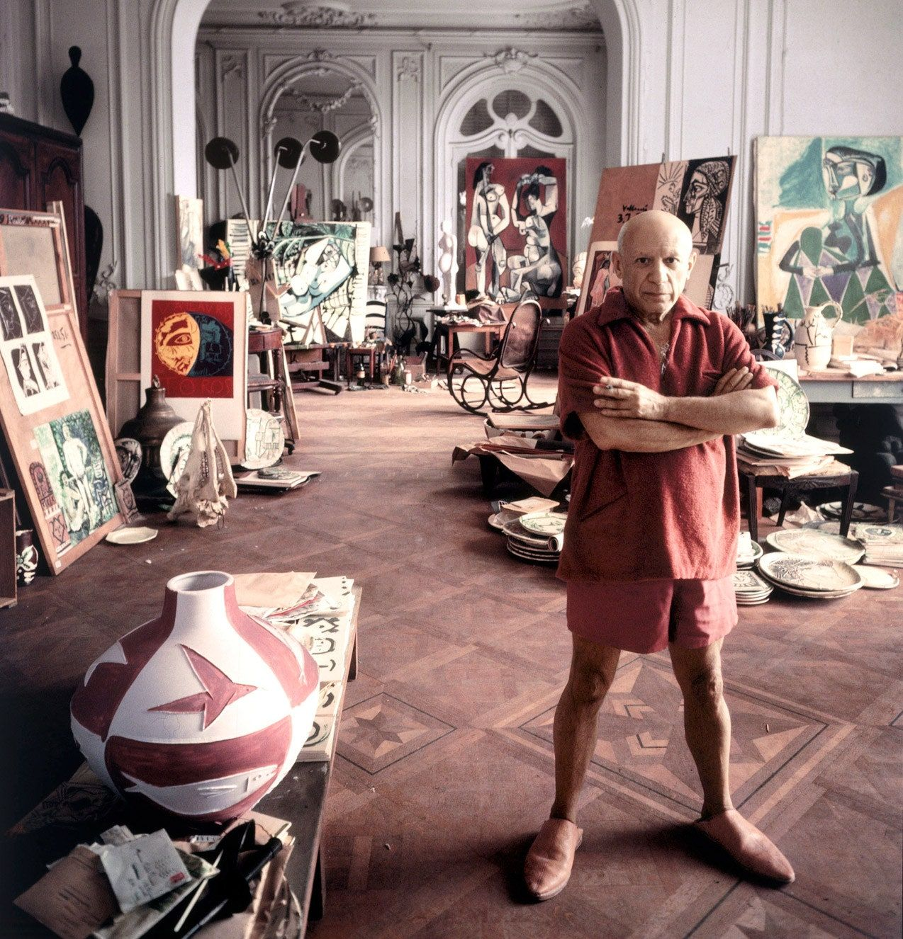 Pablo Picasso in Cannes, September 11, 1956