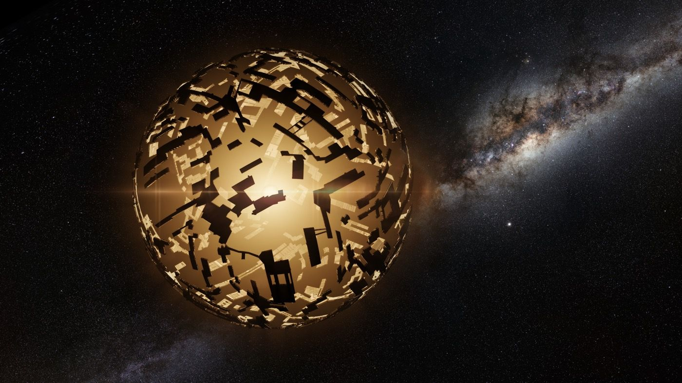 Artists rendition of a Dyson Sphere