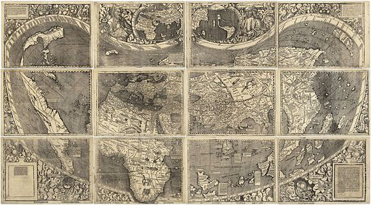 """Universalis Cosmographia (1507), first map to use the name """"America"""""""