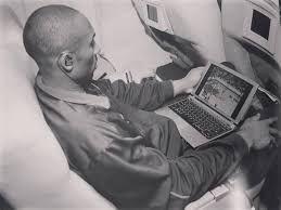 Kobe Bryant watching film