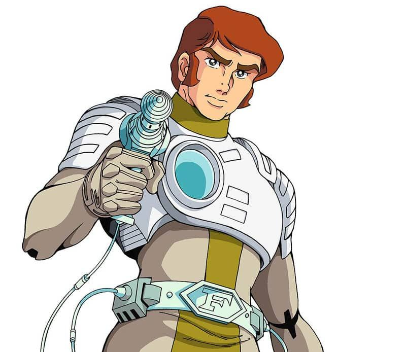 Le torse cyber-viril du Captain Flam. Un appareillage sans réelle fonction…