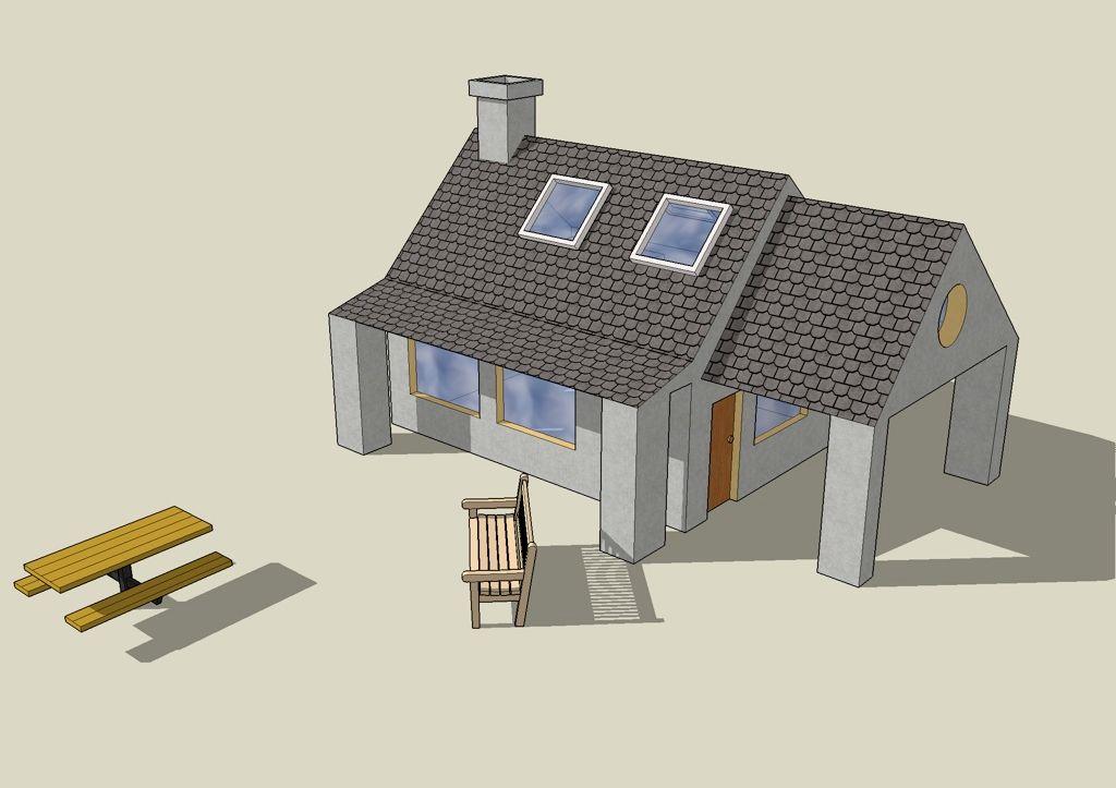 Une maison, faite dans Sketchup