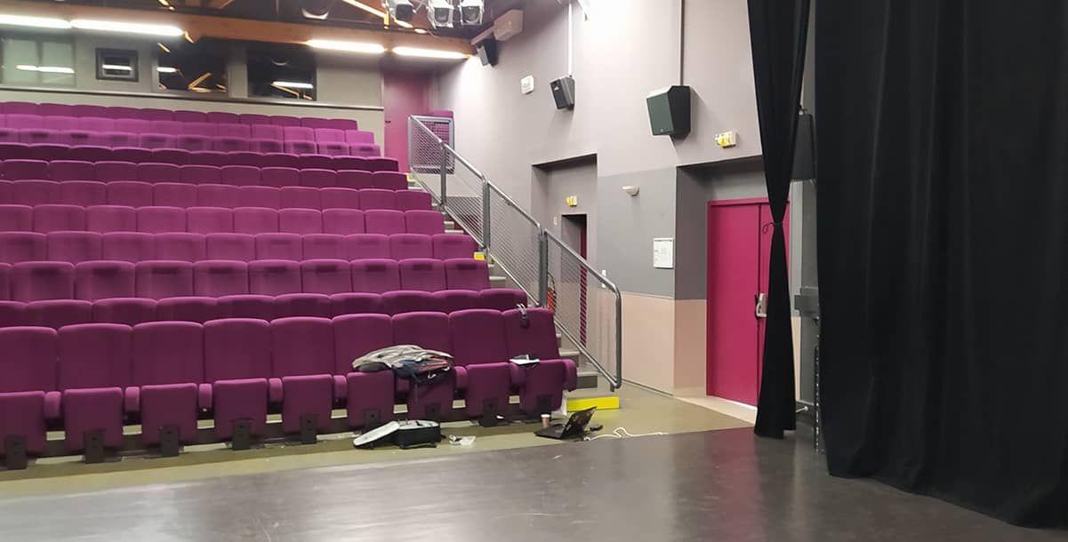 La salle de spectacle où s'est déroulé l'atelier