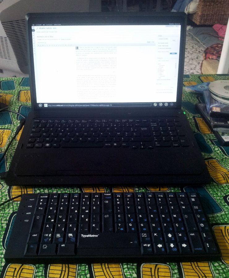 Mon ordi et son clavier