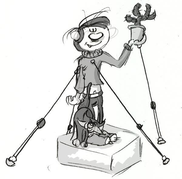 La statue de Gaston Lagaffe