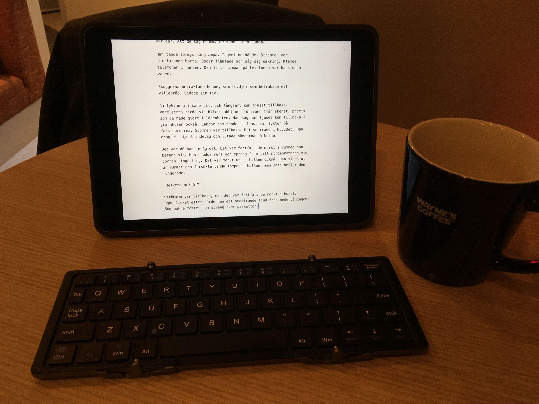 """Min iPad på mitt """"kontor"""""""