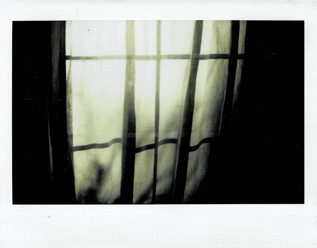 sheer curtain at morning light