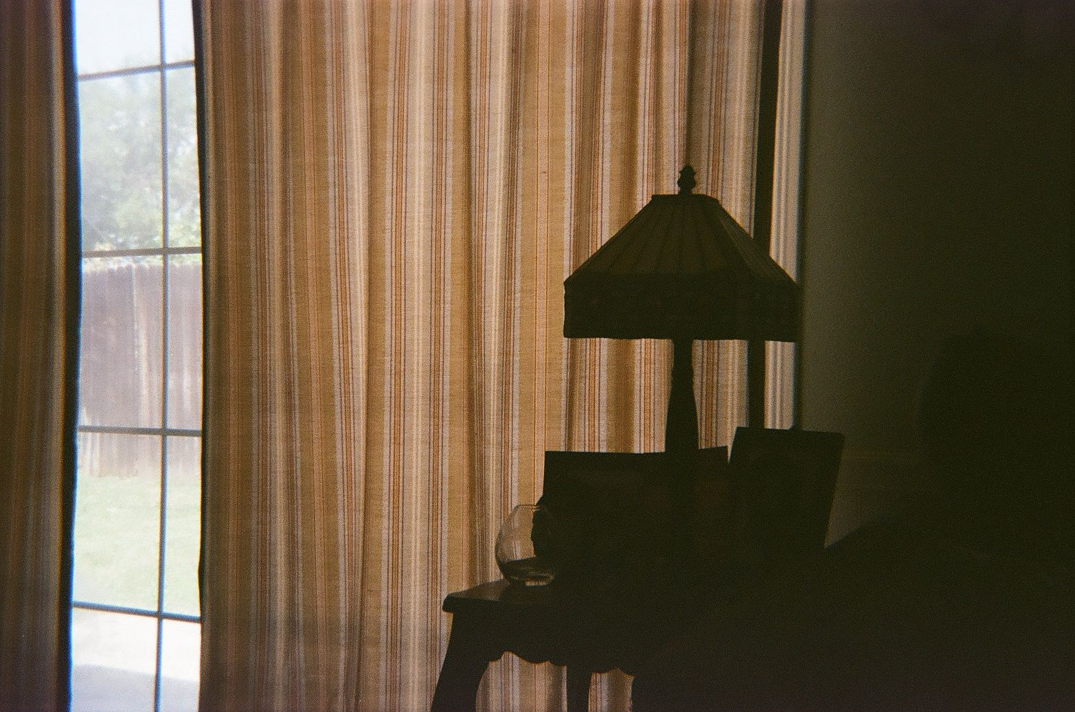 lamp at window