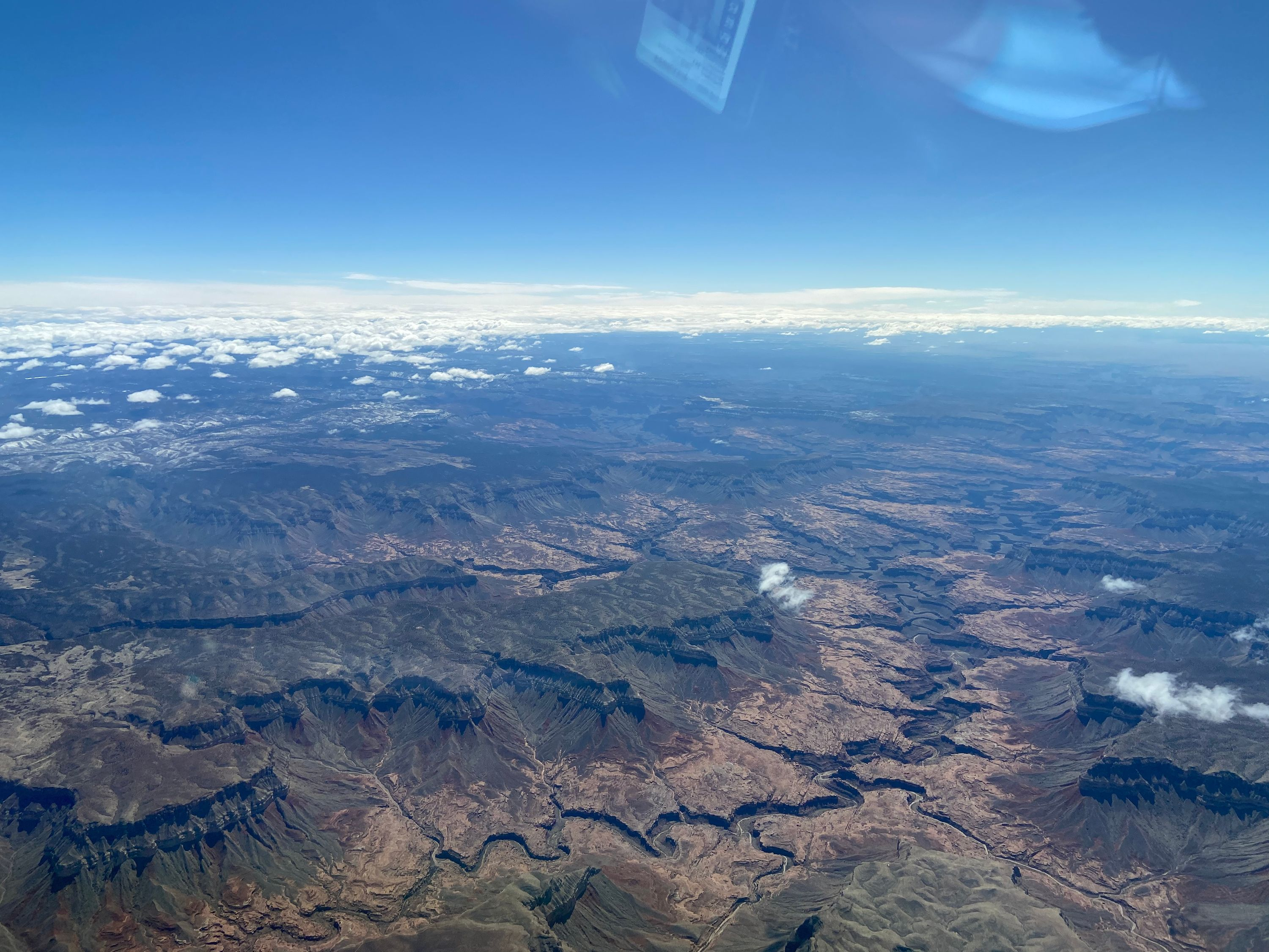 Flying over the Grand Canyon heading into Page