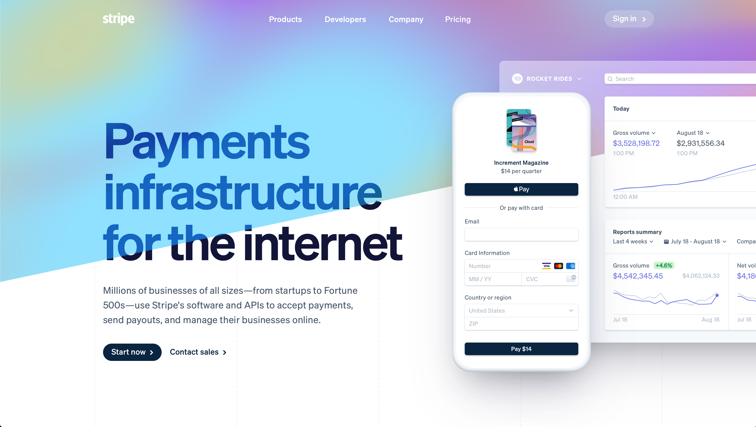 Stripe's New Design Update