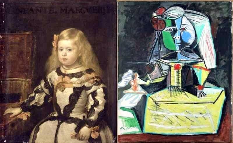 """L'infante Marie-Marguerite: l'original de Vélasquez, le """"vol"""" de Picasso"""