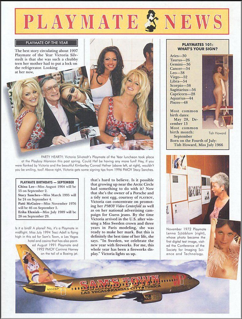 Une brève dans le Playboy de septembre 1997 (En bas à droite)