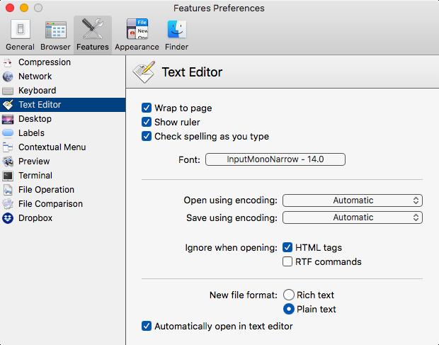 Customizable Text Editor