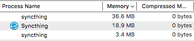 Syncthing Memory Usage