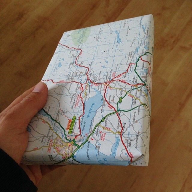 when we buy a new road atlas  the old one becomes wrapping paper 49002489967 o