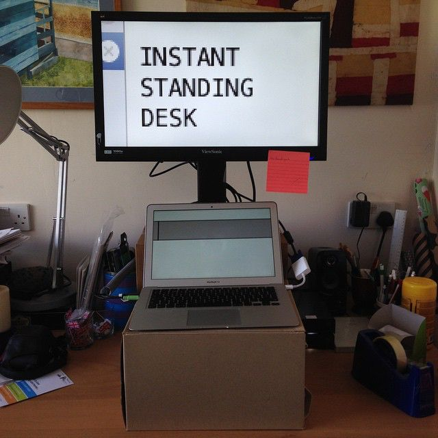 two cardboard boxes later  and i m experimenting with a standing desk 49001752613 o