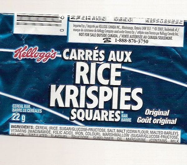 Rice Krispy Square Wrapper