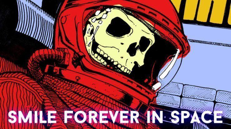 Надпись на картинке: Улыбайся в космосе вечно