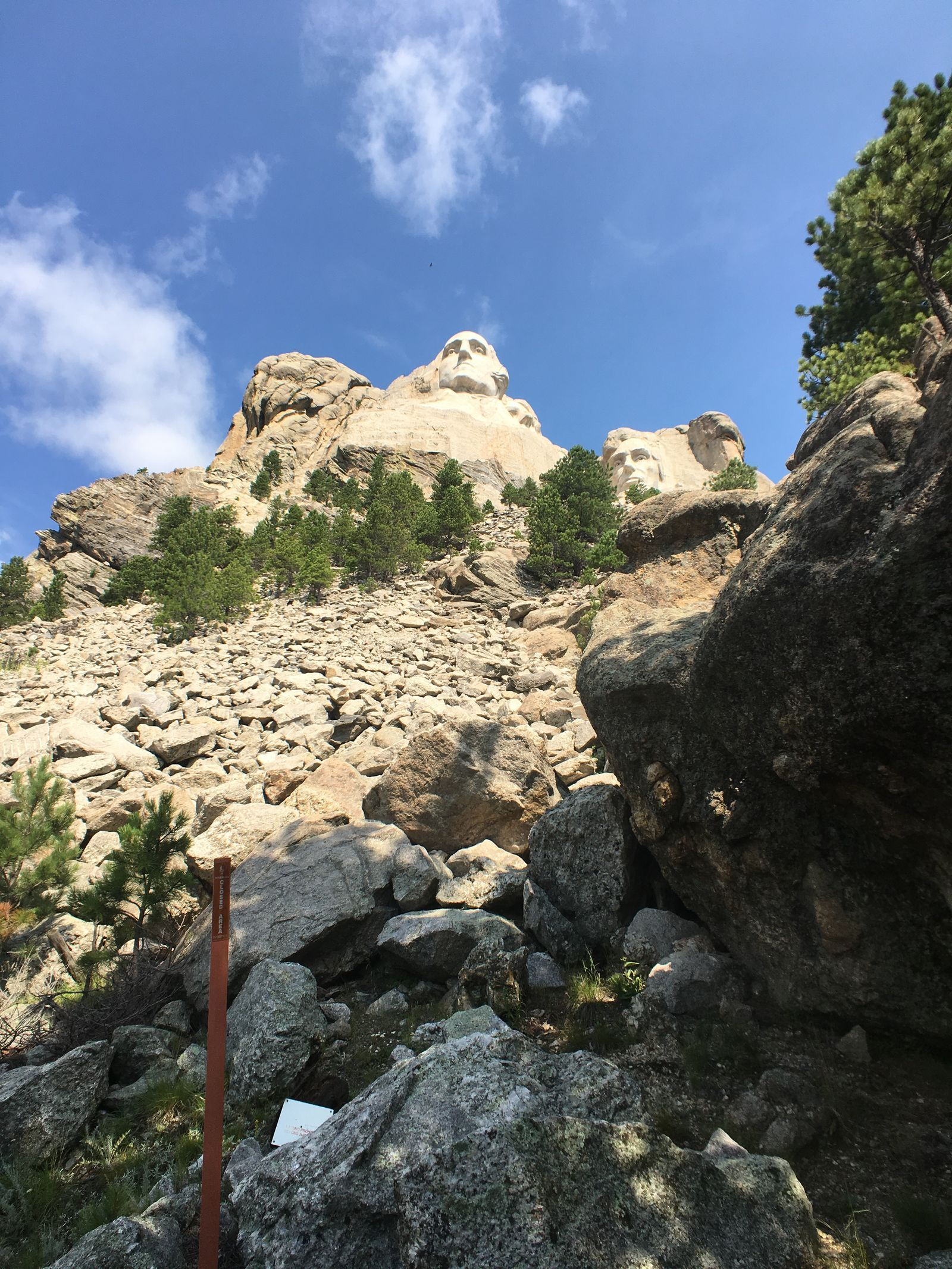 A view of the scree below the faces.