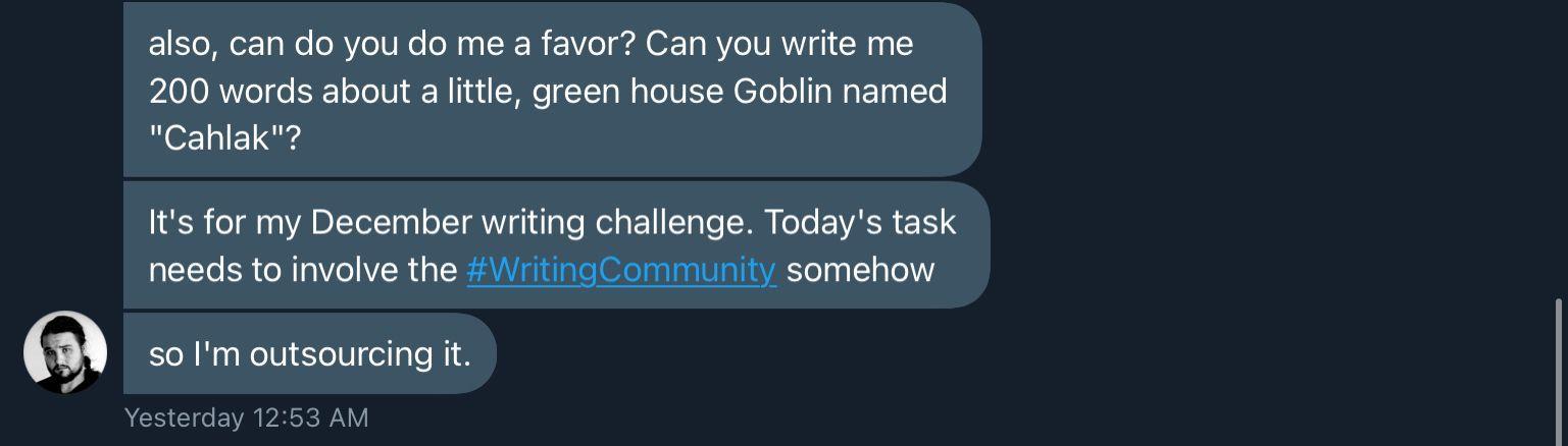 Trey's writing challenge