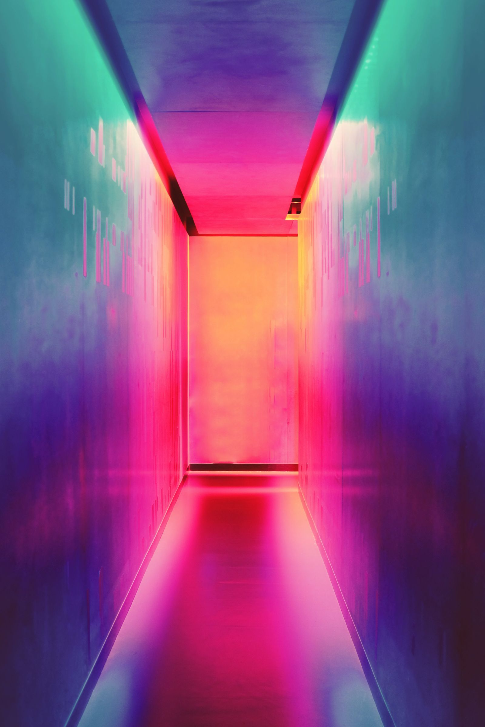 A colourful hallway. Photo by Efe Kurnaz on Unsplash
