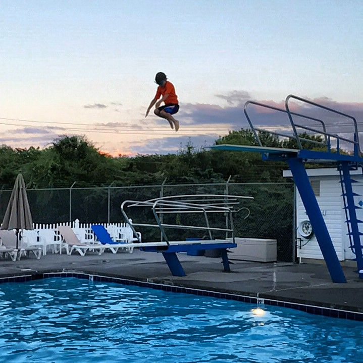 My son on the high dive