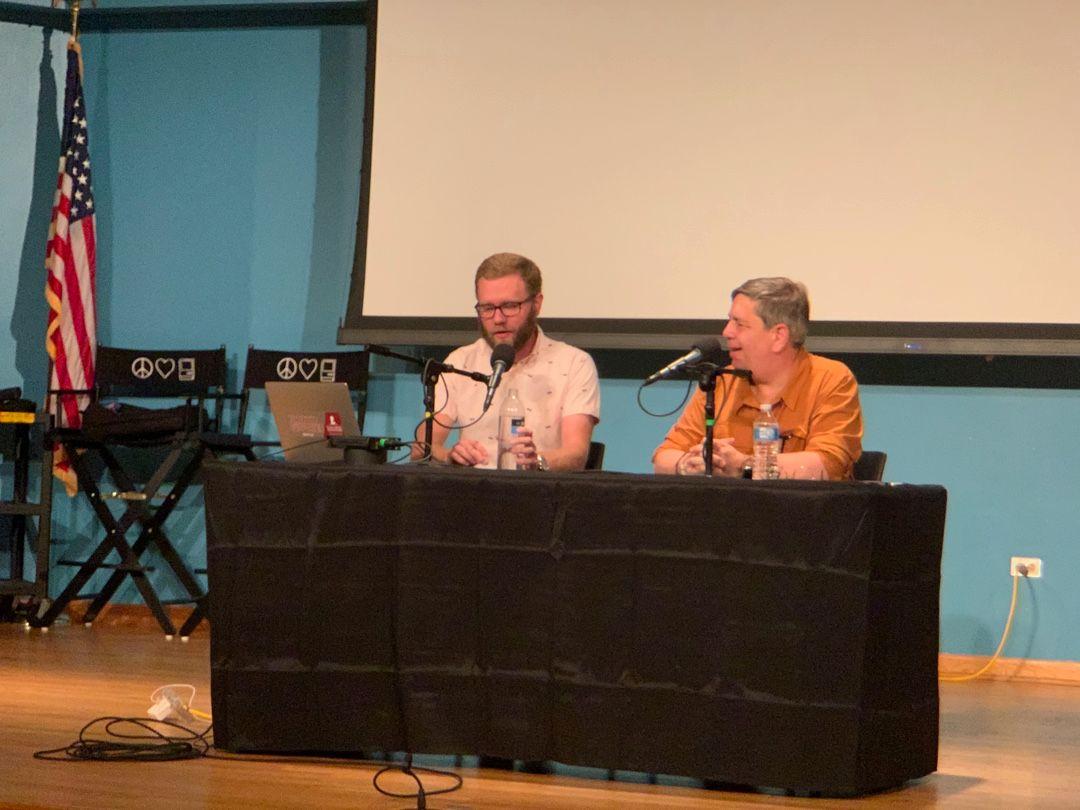 Stephen Hackett and David Sparks recording MPU 500