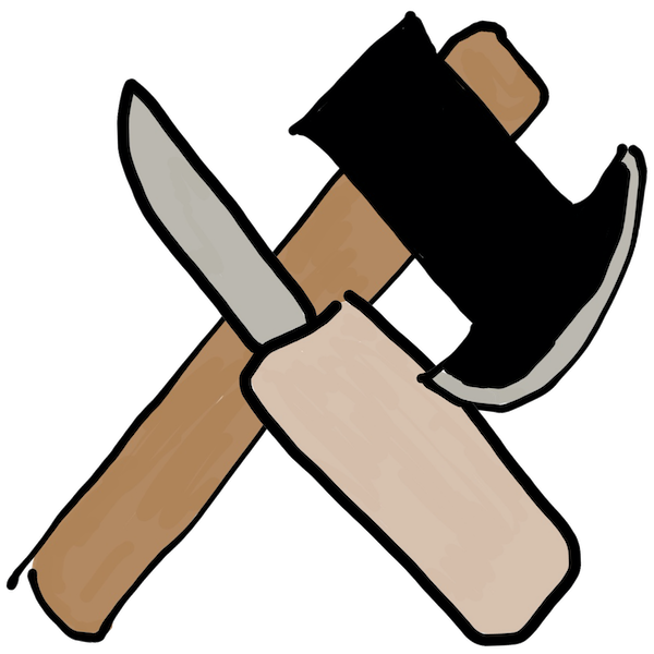 axe and knife